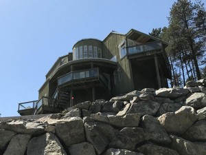 house in whistler roofing job by BQR