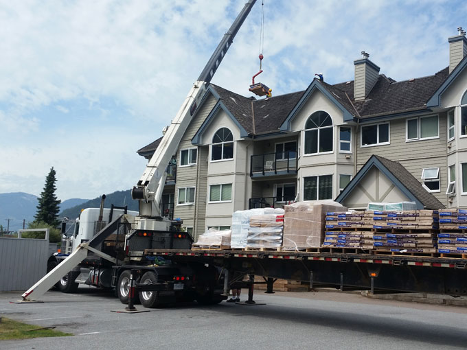 Squamish commercial roofing project