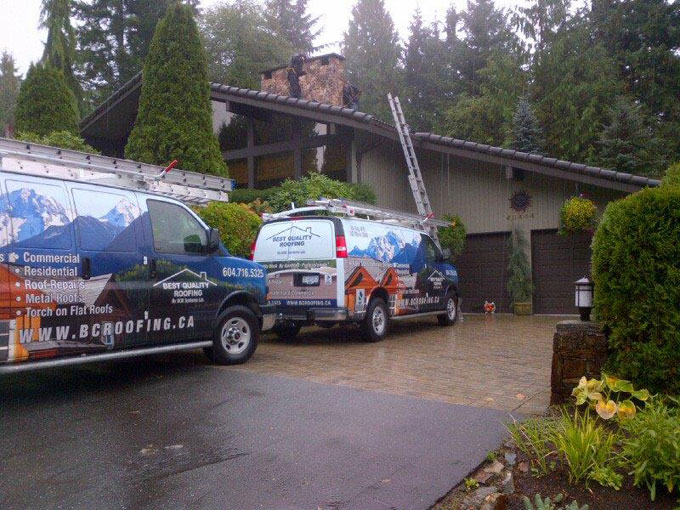 Squamish residential roofing project