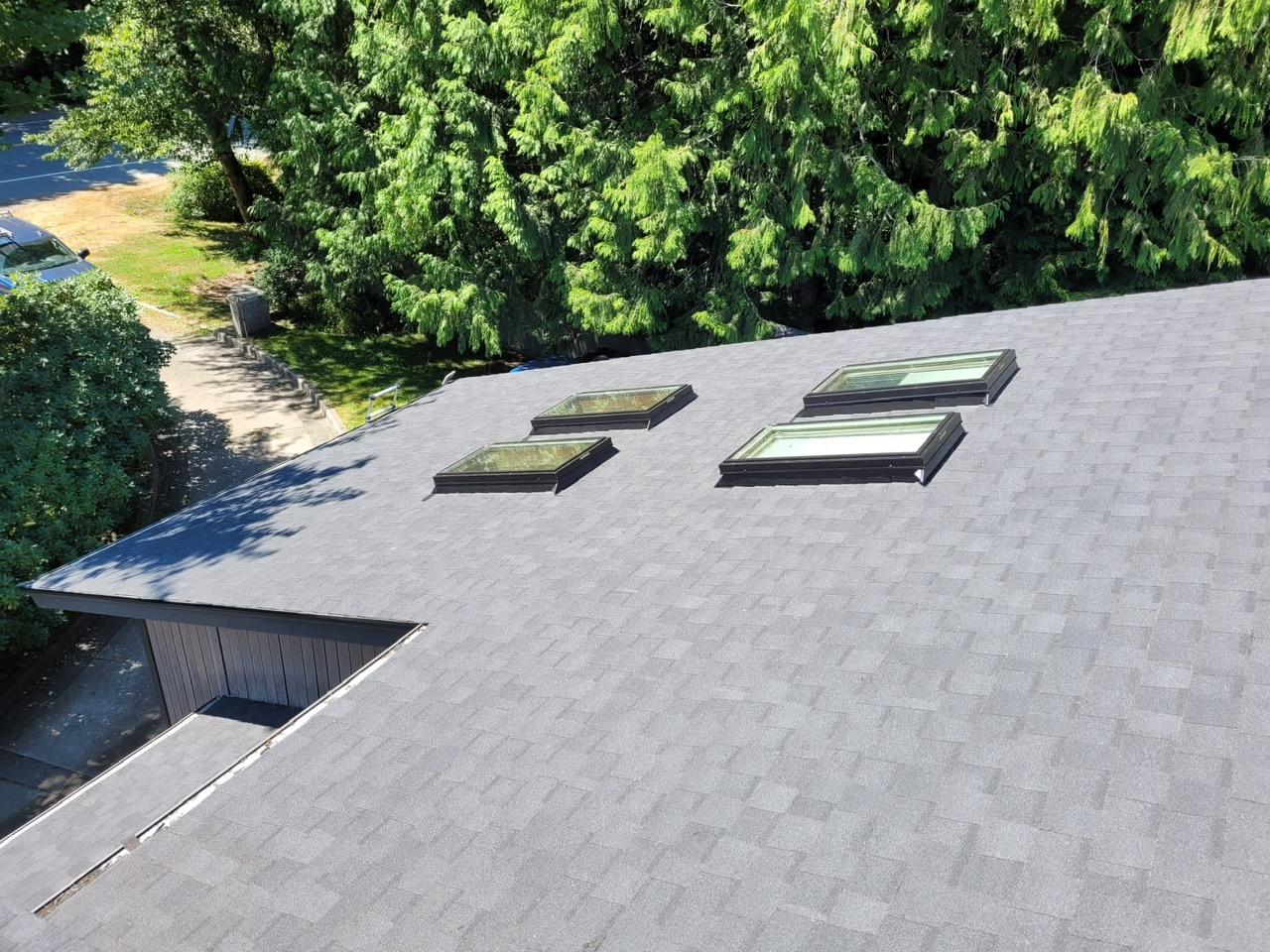 New roof and skylights in Squamish, BC