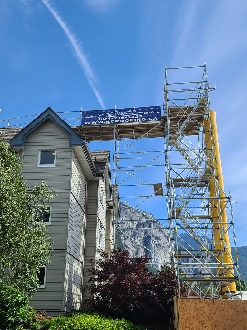 family roof and skylight project in Squamish