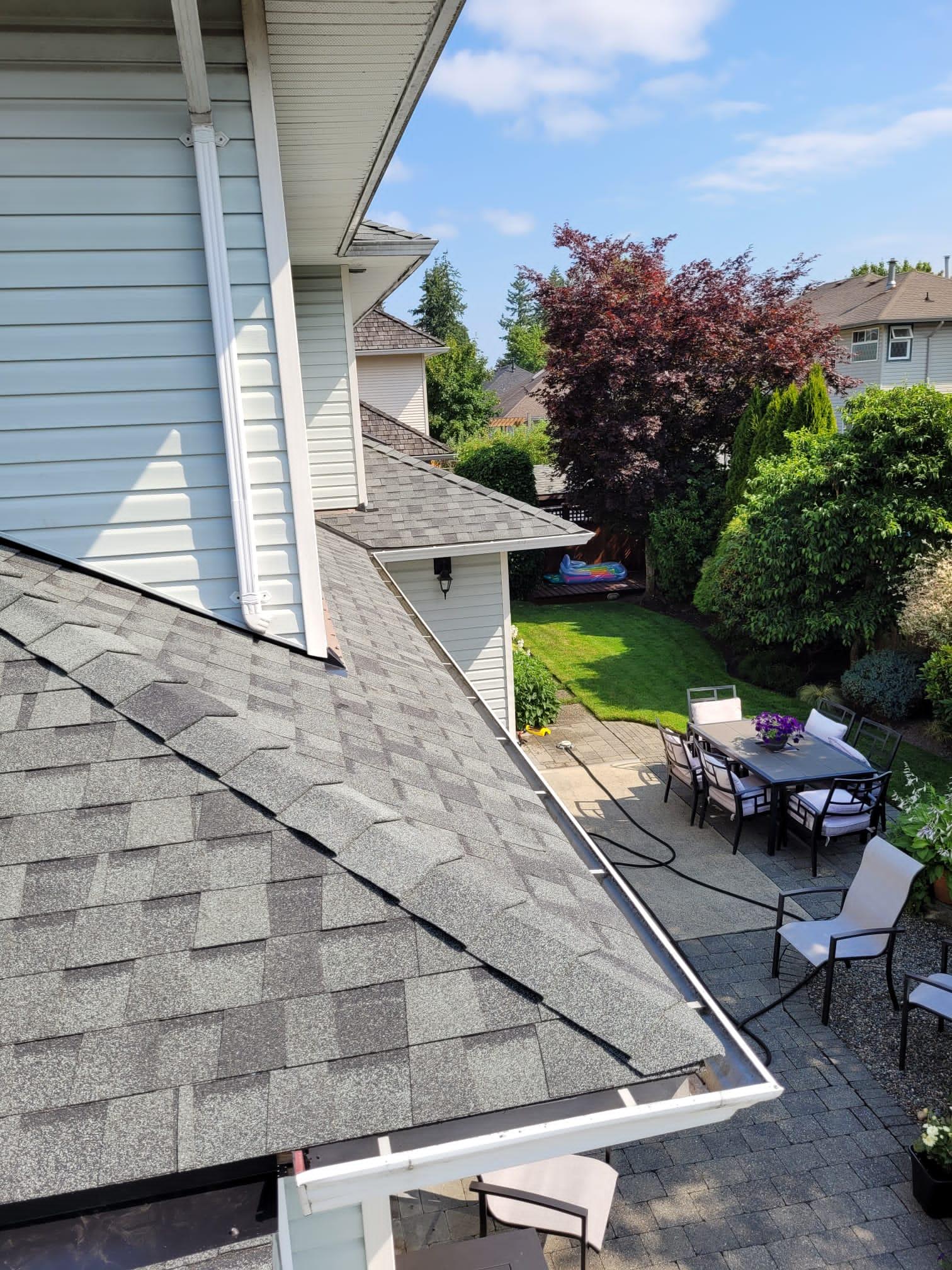 Cedar conversion to asphalt shingle BQR recently completed