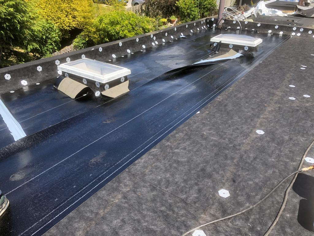 torch-on roofing completed in White Rock